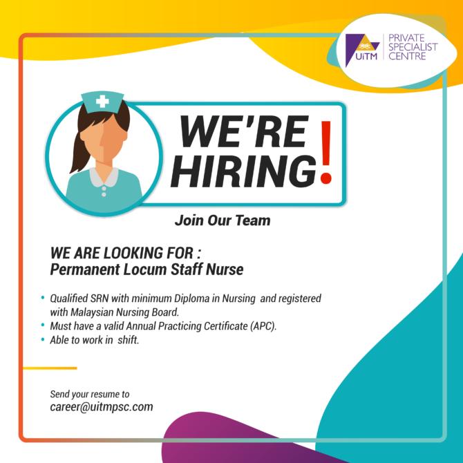Permanent Locum Staff Nurse